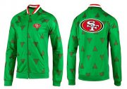 Wholesale Cheap NFL San Francisco 49ers Team Logo Jacket Green