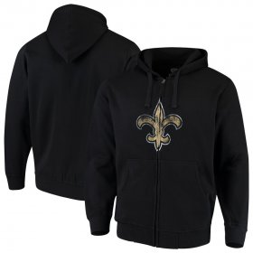 Wholesale Cheap New Orleans Saints G-III Sports by Carl Banks Primary Logo Full-Zip Hoodie Black