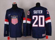 Wholesale Cheap 2014 Olympic Team USA #20 Ryan Suter Navy Blue Stitched NHL Jersey