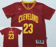 Wholesale Cheap Men's Cleveland Cavaliers #23 LeBron James Revolution 30 Swingman 2014 New Red Short-Sleeved Jersey