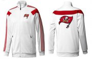 Wholesale Cheap NFL Tampa Bay Buccaneers Team Logo Jacket White_2