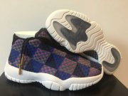 Wholesale Cheap Womens Jordan future Shoes Blue/brown-white
