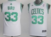 Cheap Boston Celtics #33 Larry Bird White Kids Jersey