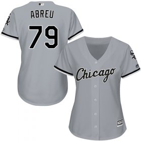 Wholesale Cheap White Sox #79 Jose Abreu Grey Road Women\'s Stitched MLB Jersey