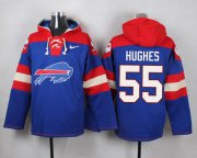 Wholesale Cheap Nike Bills #55 Jerry Hughes Royal Blue Player Pullover NFL Hoodie