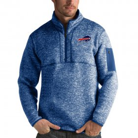 Wholesale Cheap Buffalo Bills Antigua Fortune Quarter-Zip Pullover Jacket Heather Royal