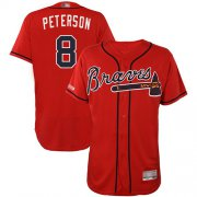 Wholesale Cheap Braves #8 Jace Peterson Red Flexbase Authentic Collection Stitched MLB Jersey