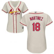 Wholesale Cheap Cardinals #18 Carlos Martinez Cream Alternate Women's Stitched MLB Jersey