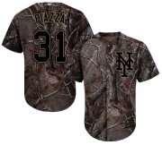 Wholesale Cheap Mets #31 Mike Piazza Camo Realtree Collection Cool Base Stitched Youth MLB Jersey