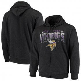 Wholesale Cheap Minnesota Vikings G-III Sports by Carl Banks Perfect Season Full-Zip Hoodie Charcoal