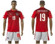 Wholesale Cheap Austria #19 Hinterseer Red Home Soccer Country Jersey