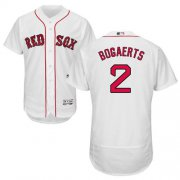 Wholesale Cheap Red Sox #2 Xander Bogaerts White Flexbase Authentic Collection Stitched MLB Jersey