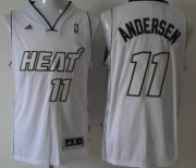 Wholesale Cheap Miami Heat #11 Chris Andersen Revolution 30 Swingman White Big Color Jersey