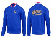 Wholesale Cheap MLB Oakland Athletics Zip Jacket Blue_1