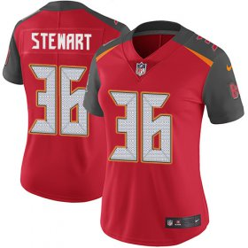 Wholesale Cheap Nike Buccaneers #36 M.J. Stewart Red Team Color Women\'s Stitched NFL Vapor Untouchable Limited Jersey