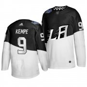 Wholesale Cheap Adidas Los Angeles Kings #9 Adrian Kempe Men's 2020 Stadium Series White Black Stitched NHL Jersey