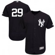 Wholesale Cheap Yankees #29 Gio Urshela Navy Blue Flexbase Authentic Collection Stitched MLB Jersey