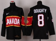 Wholesale Cheap Olympic 2014 CA. #8 Drew Doughty Black Stitched NHL Jersey