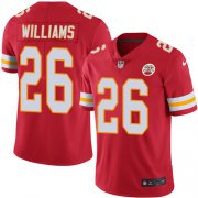 Wholesale Cheap Nike Chiefs #26 Damien Williams Red Team Color Youth Stitched NFL Vapor Untouchable Limited Jersey
