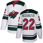 Wholesale Cheap Adidas Wild #22 Nino Niederreiter White Road Authentic Stitched Youth NHL Jersey
