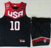 Wholesale Cheap 2014 USA Dream Team #10 Kyrie Irving Blue Basketball Jersey Suits