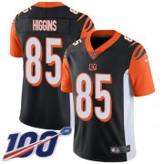 Wholesale Cheap Nike Bengals #85 Tee Higgins Black Team Color Youth Stitched NFL 100th Season Vapor Untouchable Limited Jersey