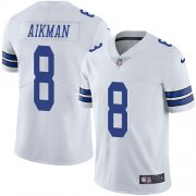 Wholesale Cheap Nike Cowboys #8 Troy Aikman White Youth Stitched NFL Vapor Untouchable Limited Jersey