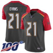Wholesale Cheap Nike Buccaneers #21 Justin Evans Gray Men's Stitched NFL Limited Inverted Legend 100th Season Jersey