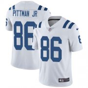 Wholesale Cheap Nike Colts #86 Michael Pittman Jr. White Youth Stitched NFL Vapor Untouchable Limited Jersey