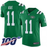 Wholesale Cheap Nike Jets #11 Denzel Mim Green Youth Stitched NFL Limited Rush 100th Season Jersey