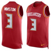 Wholesale Cheap Nike Buccaneers #3 Jameis Winston Red Team Color Men's Stitched NFL Limited Tank Top Jersey