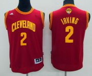 Wholesale Cheap Men's Cleveland Cavaliers #2 Kyrie Irving Red 2017 The NBA Finals Patch Jersey