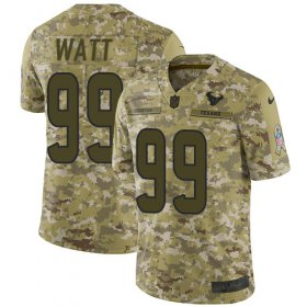 Wholesale Cheap Nike Texans #99 J.J. Watt Camo Men\'s Stitched NFL Limited 2018 Salute To Service Jersey