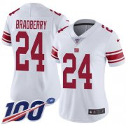 Wholesale Cheap Nike Giants #24 James Bradberry White Women's Stitched NFL 100th Season Vapor Untouchable Limited Jersey