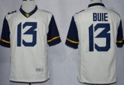 Wholesale Cheap West Virginia Mountaineers #13 Andrew Buie 2013 White Limited Jersey