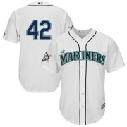 Wholesale Cheap Seattle Mariners #42 Majestic 2019 Jackie Robinson Day Official Cool Base Jersey White