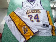 Wholesale Cheap Los Angeles Lakers 24 Kobe Bryant white swingman Basketball Suit