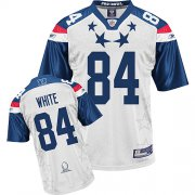 Wholesale Cheap Falcons #84 Roddy White 2011 White and Blue Pro Bowl Stitched NFL Jersey