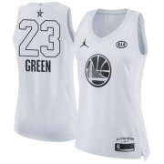 Wholesale Cheap Nike Golden State Warriors #23 Draymond Green White Women's NBA Jordan Swingman 2018 All-Star Game Jersey
