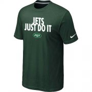 Wholesale Cheap Nike New York Jets Just Do It Dark Green T-Shirt