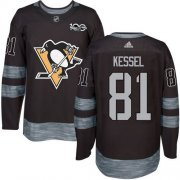 Wholesale Cheap Adidas Penguins #81 Phil Kessel Black 1917-2017 100th Anniversary Stitched NHL Jersey