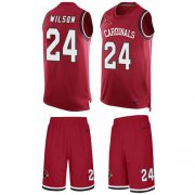 Wholesale Cheap Nike Cardinals #24 Adrian Wilson Red Team Color Men's Stitched NFL Limited Tank Top Suit Jersey