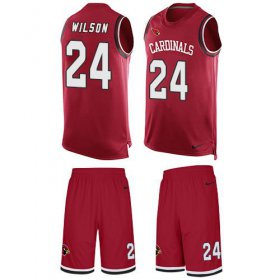 Wholesale Cheap Nike Cardinals #24 Adrian Wilson Red Team Color Men\'s Stitched NFL Limited Tank Top Suit Jersey