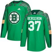 Wholesale Cheap Adidas Bruins #37 Patrice Bergeron adidas Green St. Patrick's Day Authentic Practice Stitched NHL Jersey