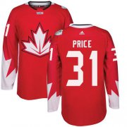 Wholesale Cheap Team Canada #31 Carey Price Red 2016 World Cup Stitched Youth NHL Jersey