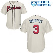 Wholesale Cheap Braves #3 Dale Murphy Cream Cool Base Stitched Youth MLB Jersey