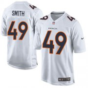 Wholesale Cheap Nike Broncos #49 Dennis Smith White Men's Stitched NFL Game Event Jersey