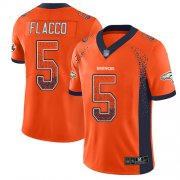 Wholesale Cheap Nike Broncos #5 Joe Flacco Orange Team Color Men's Stitched NFL Limited Rush Drift Fashion Jersey