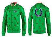 Wholesale Cheap NFL Indianapolis Colts Team Logo Jacket Green
