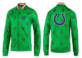 Wholesale NFL Indianapolis Colts Team Logo Jacket Green
